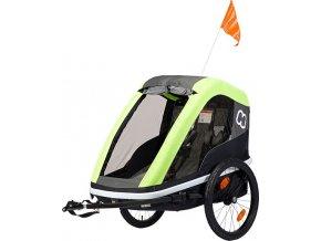 Hamax AVENIDA ONE - jednomístný vozík za kolo vč. ramena + kočárkový set LIME