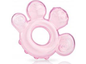 Nuby Kousátko plněné vodou - růžové 3m+
