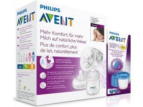 Philips AVENT Odsávačka mateř.ml. Natural se zásobníkem 125ml+VIA180ml 5ks