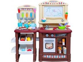 Velká dětská kuchyňka Super Šéf s tekoucí vodou Bayo + příslušenství