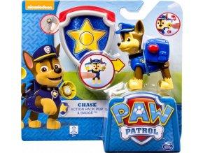 Tlapková patrola Chase s akčním batohem a odznakem