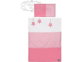 2-dílné ložní povlečení Belisima Hvězdička 100/135 růžové