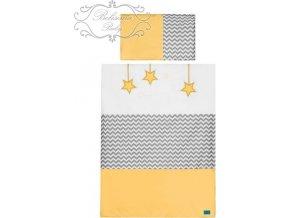 2-dílné ložní povlečení Belisima Hvězdička 100/135 žluté