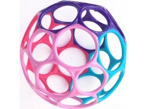 Oball Hračka OBALL 10 cm 0m+, růžovo-fialová