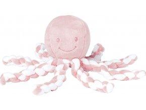 Nattou První hračka miminka chobotnička PIU PIU Lapidou light pink 0m +