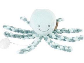 Nattou První hračka miminka hrající chobotnička PIU PIU Lapidou coppergreen - mint 0m +