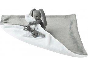 Nattou Deka plyšová s mazlíčkem LAPIDOU anthracite-white 48cm x 48cm