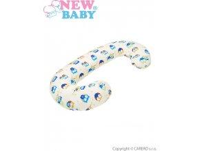Univerzální kojící polštář ve tvaru C New Baby Sovičky béžový