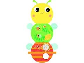 Bright Starts Knížka aktivní na C kroužku Beautiful Bugs včelka 0m+
