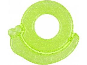 BabyOno Kousátko chladící šnek - zelená