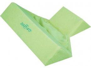 Semišková trojhranná opěrka Womar zelená