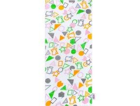 Bavlněná plena s potiskem New Baby bílá geometrické vzory