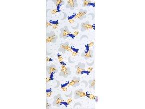 Bavlněná plena s potiskem New Baby s žirafou