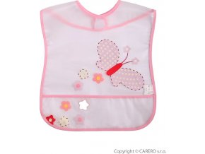 Dětský bryndák s kapsičkou Akuku s motýlkem