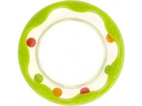 Dětské chladící kousátko Akuku kolečko zelené