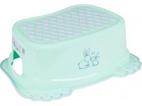 Dětské protiskluzové stupátko do koupelny Bunny mátové