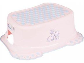 Dětské protiskluzové stupátko do koupelny Bunny růžové