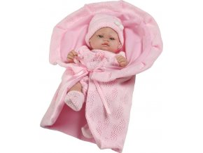 Luxusní dětská panenka-miminko Berbesa Valentina 28cm