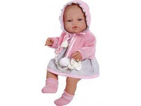 Luxusní dětská panenka-miminko Berbesa Amanda 43cm