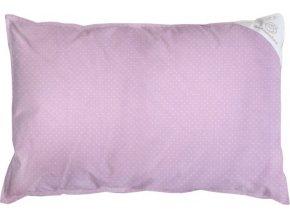 Povlak na polštář růžový s puntíky - 60x40cm