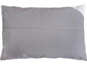 Povlak na polštář šedý s puntíky - 60x40cm