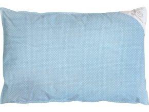 Povlak na polštář modrý s puntíky - 60x40cm