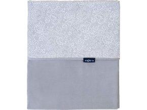 Dětská oboustranná deka Velvet Womar 75x100 šedá