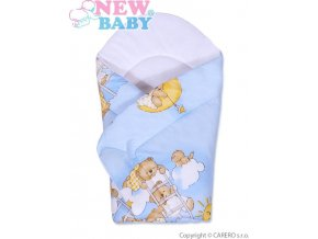 Dětská zavinovačka New Baby modrá s medvídkem