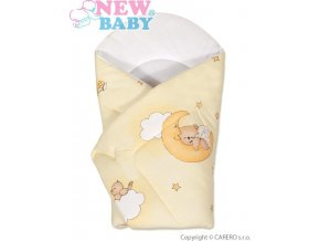 Dětská zavinovačka New Baby žlutá s medvídkem