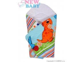 Dětská zavinovačka New Baby modrá s dinem
