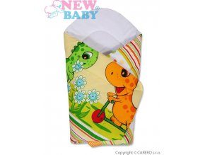 Dětská zavinovačka New Baby oranžová s dinem