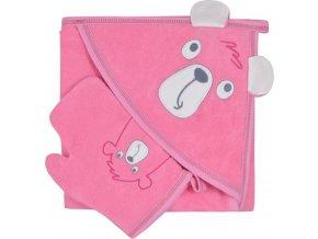 Dětská osuška s žínkou Koala Yogi pink