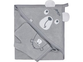 Dětská osuška s žínkou Koala Yogi grey