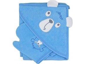 Dětská osuška s žínkou Koala Yogi blue