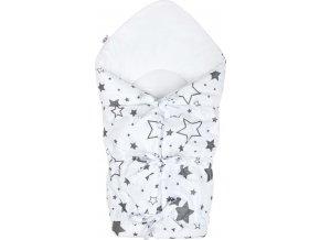 Klasická šněrovací zavinovačka New Baby bílá hvězdy šedé