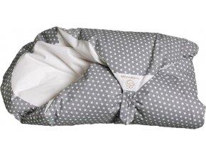 Povlak šedý s hvězdičkami na zavinovačku Maxi Dráček
