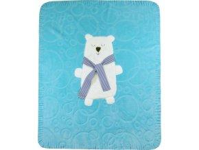 Dětská deka Koala Polar Bear modrá