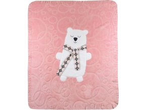 Dětská deka Koala Polar Bear růžová