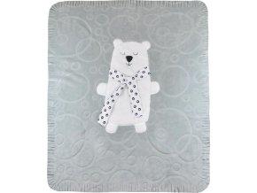 Dětská deka Koala Polar Bear šedá