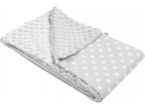 Dětská deka z Minky New Baby šedá 80x102 cm