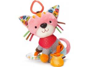 Skip Hop Hračka na C- kroužku aktivní Bandana Buddies - Kočička 0m+