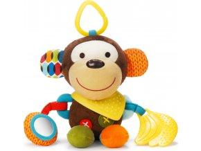 Skip Hop Hračka na C- kroužku aktivní Bandana Buddies - Opička 0m+