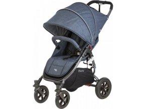 valco baby Kočárek sportovní Valco Snap 4 Sport Tailor Made Denim metalická šedá konstrukce