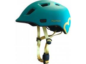 Hamax Cyklohelma Thundercap tyrkysová / žluté pásky 47-52