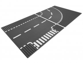 LEGO City Křižovatka ve tvaru T a zatáčky