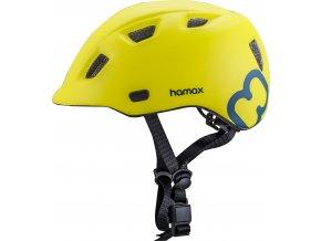 Hamax Cyklohelma Thundercap zelená / modré pásiky 52-57