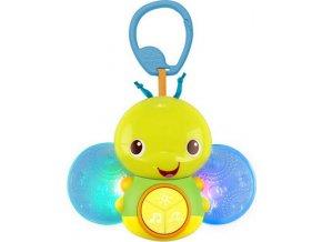 Bright Starts Hračka svítící včelka s melodií na C kroužku Beaming Buggie™ 0m+