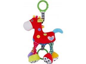 Dětská plyšová hračka s vibrací Baby Mix Koník