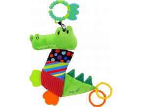 Plyšová hračka s vibrací Baby Mix Krokodýl