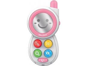 Dětská hračka se zvukem Baby Mix Telefónek pink
